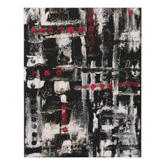Lienzo De Imitación negro, blanco, rojo