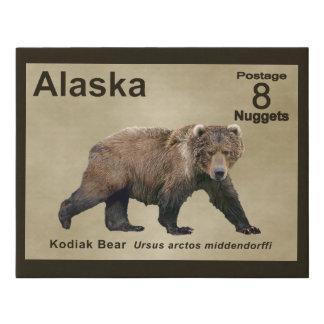 Lienzo De Imitación Oso de Kodiak - franqueo de Alaska