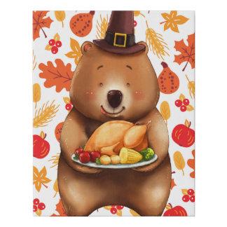 Lienzo De Imitación oso del pilgram con el fondo festivo