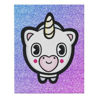 Lienzo De Imitación Pequeña chispa feliz del unicornio de Emoji
