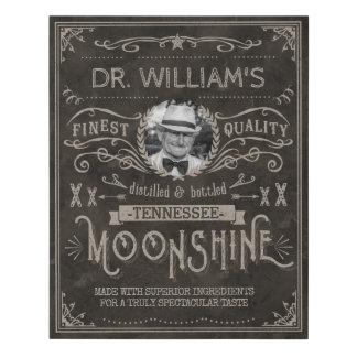 Lienzo De Imitación Personalizado Brown del vintage de la medicina del