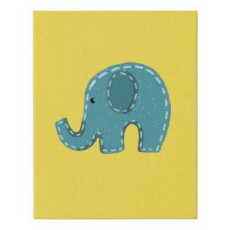 Lienzo De Imitación Pintura de la lona del elefante con amarillo