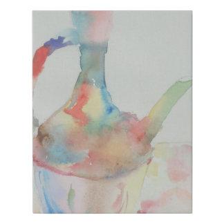 Lienzo De Imitación Pintura del color de agua del pote del café