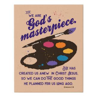 Lienzo De Imitación Poster de la obra maestra de dios