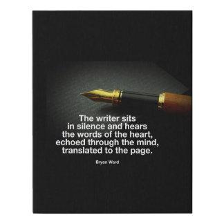 Lienzo De Imitación Poster del escritor de la inspiración de la sala