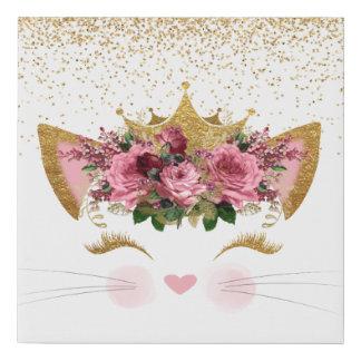 Lienzo De Imitación Princesa bonita Canvas Print del gatito