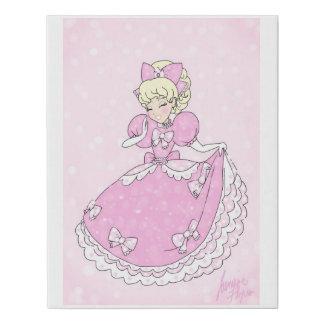 Lienzo De Imitación Princesa rosada bonita