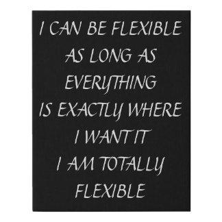 Lienzo De Imitación Puedo ser flexible