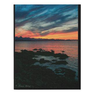 Lienzo De Imitación Puesta del sol del verano en lona del SE Alaska