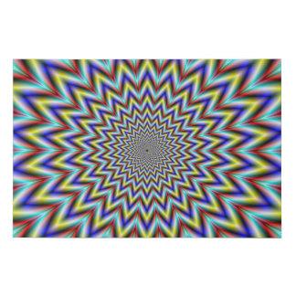Lienzo De Imitación Pulsar en amarillo rojo y azul