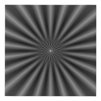 Lienzo De Imitación Rayos en blanco y negro