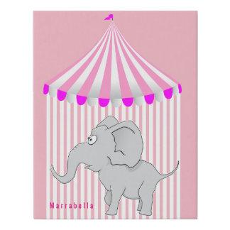 Lienzo De Imitación Rosa del cuarto de niños de la tienda de circo del