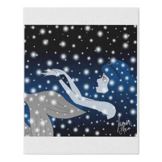 Lienzo De Imitación Sirena de la nieve