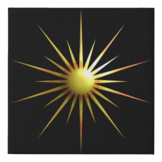 Lienzo De Imitación Sun abstracto
