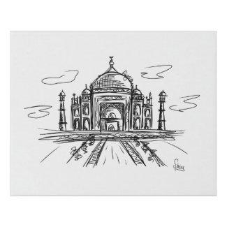 Lienzo De Imitación Taj Mahal