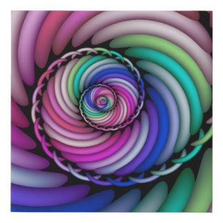 Lienzo De Imitación Tienda espiral del caramelo del fractal