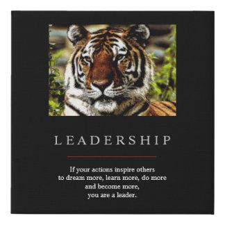 Lienzo De Imitación Tigre de motivación único de moda de la dirección