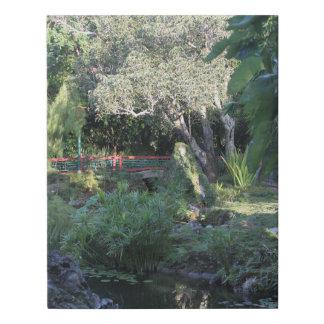 Lienzo De Imitación Un jardín japonés hermoso