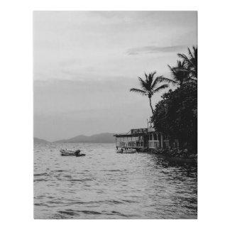 Lienzo De Imitación Vintage blanco y negro por la lona de la foto del