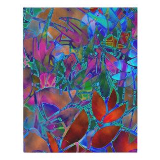 Lienzo De Imitación Vitral abstracto floral envuelto de la lona