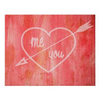 Lienzo De Imitación Yo y usted de la tarjeta del día de San Valentín