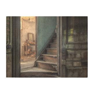 Lienzo de madera - Abandoned Place escalera Echar