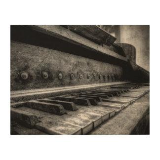 Lienzo de madera - Old piano piano viejo madera -