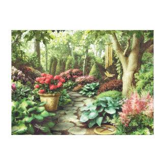 "Lienzo Del ""impresión de la lona jardín de la libélula"""