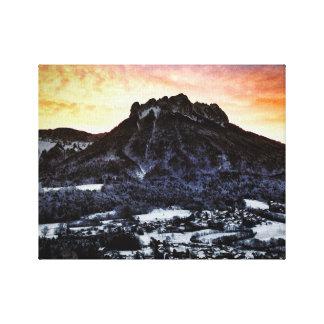 Lienzo Dents de Lanfon, montañas francesas