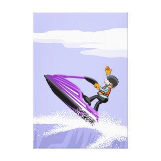 Lienzo Deportista de jet ski hace un gesto de logro