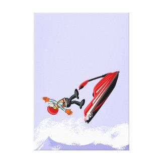 Lienzo Deportista de jet ski sufre una caída espectacular