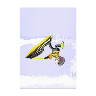 Lienzo Deportista en su jet ski girando por el aire