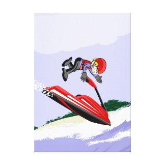 Lienzo Deportista se luce con su jet ski extremo