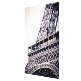 Lienzo Detalle de la torre Eiffel, París, Francia