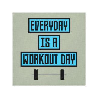 Lienzo Día diario Z852m del entrenamiento