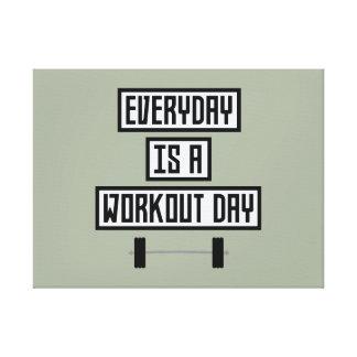Lienzo Día diario Zge5d del entrenamiento