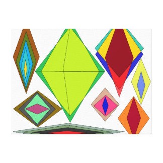 Lienzo Diamantes de la ilusión