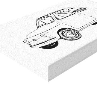 Lienzo Dibujo blanco y negro de Fiat 500 Topolino