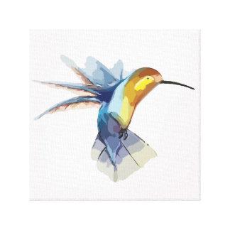 Lienzo dibujo hermoso pacífico de la acuarela del colibrí
