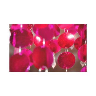 Lienzo Discos colgantes rosados de la cereza