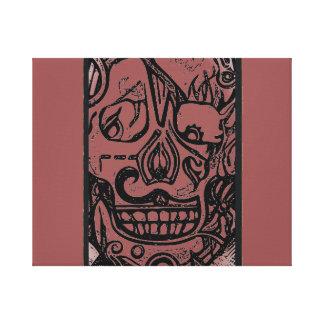 Lienzo Diseño #1 del cráneo