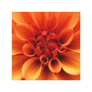 Lienzo Diseño anaranjado de la foto de la flor el |
