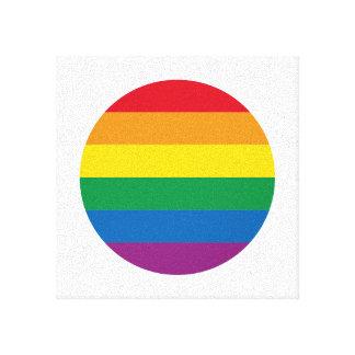 Lienzo Diseño colorido del arco iris del orgullo el |