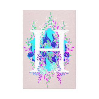 Lienzo Diseño de letra floral inicial juguetón y
