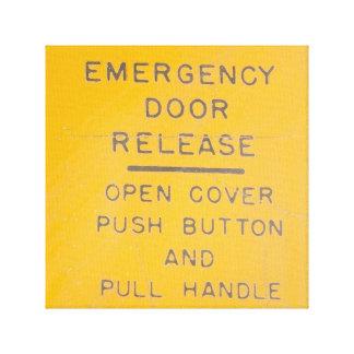 Lienzo Diseño del lanzamiento de la salida de emergencia