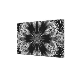 Lienzo Diseño floral abstracto blanco y negro