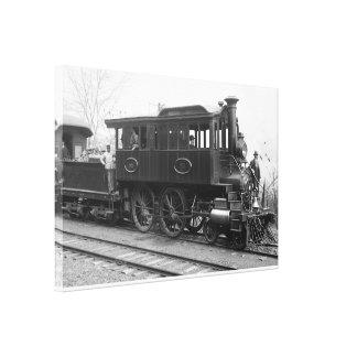 Lienzo DL+ Locomotora de la inspección del vapor de W