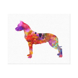 Lienzo Dogo Argentino 01 in watercolor-2