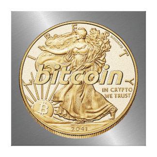 Lienzo Dólar de oro Bitcoin Cryptocurrency HODL divertido