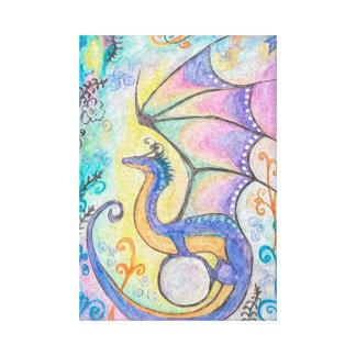 Lienzo Dragón de la primavera